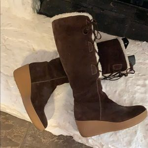 Michael Kors brown suede boots 9